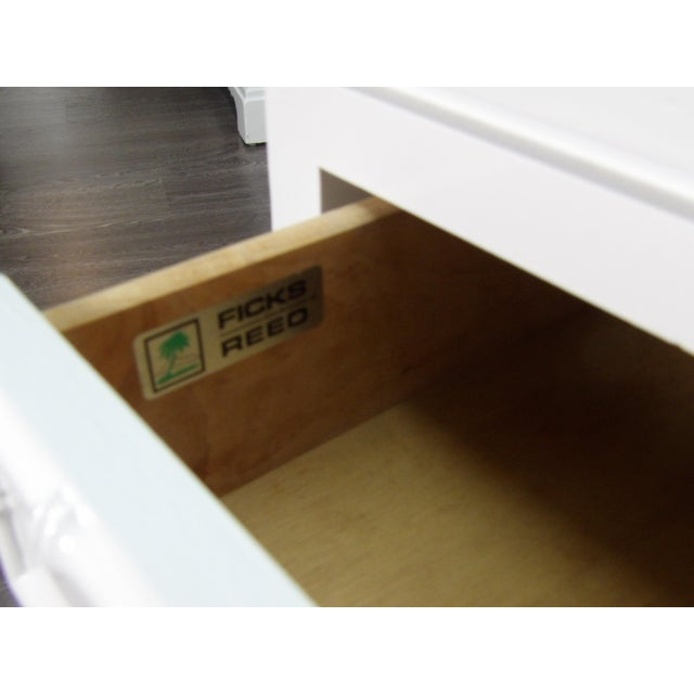 Ficks Reed Nightstand, Three Drawer, New White Lacquer Finish For Sale In West Palm - Image 6 of 7