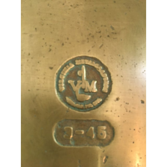 Rare - Mid-Century Virginia Metalcrafters Solid Brass Padlock Box For Sale - Image 10 of 13