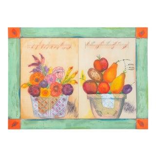 "Norman Laliberte, ""Pomme De Terre"", Still Life With Fruits For Sale"