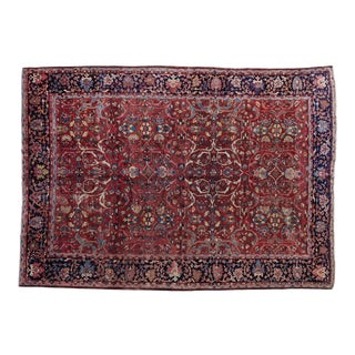 Room Size Distressed Persian Floral Mahal Rug 9x12 For Sale