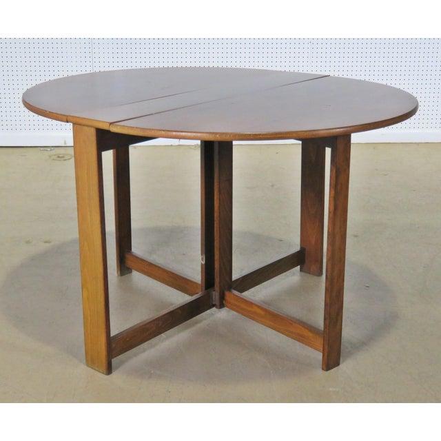 Mid-Century Modern Teak Drop Leaf Table For Sale - Image 9 of 9