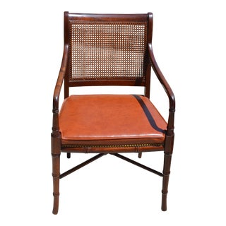 Hickory Chair Co Regency Bamboo & Cane Chair For Sale
