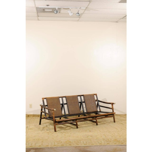 Mid-Century Modern Rare Restored Sofa by John Wisner for Ficks Reed- Four Available For Sale - Image 3 of 11