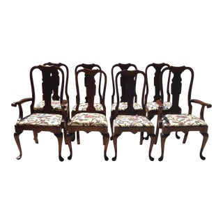 Vintage Pennsylvania House Queen Anne Dining Chairs - Set of 8