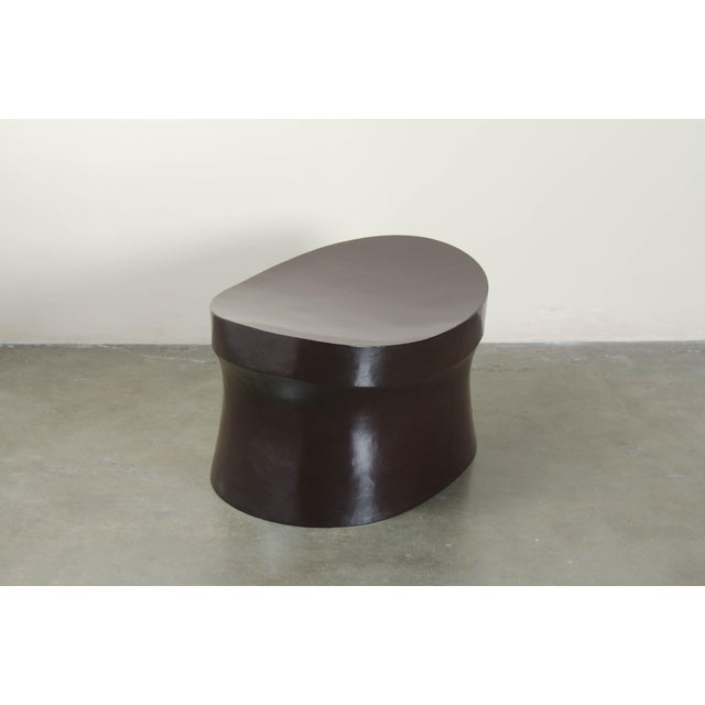 Robert Kuo Black Copper Saddle Seat Hand Repousse Drumstool by Robert Kuo, Limited Edition For Sale - Image 4 of 5