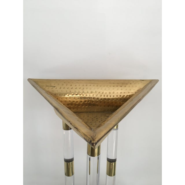 Italian Brass and Lucite Table Top Objets - a Pair For Sale - Image 9 of 13