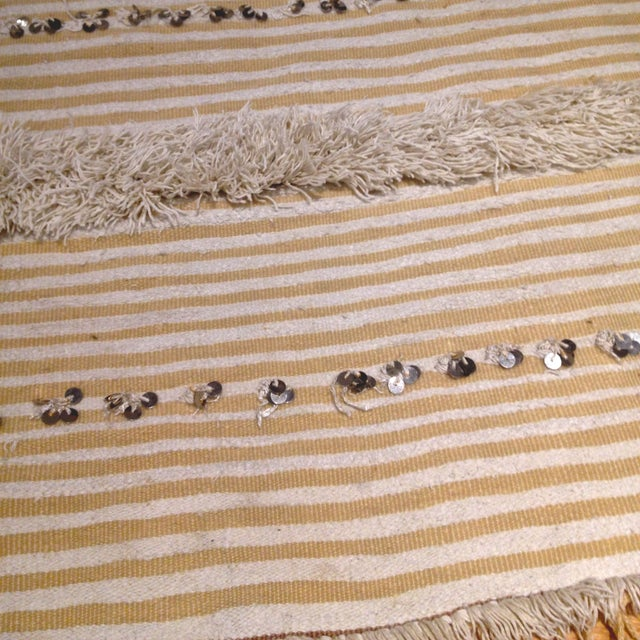 Boho Chic Vintage Moroccan Wedding Blanket For Sale - Image 3 of 3