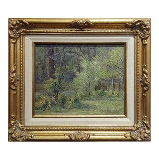 Ben Carre - Wooded Landscape at Fort Lee,VA -Oil Painting C.1915 For Sale