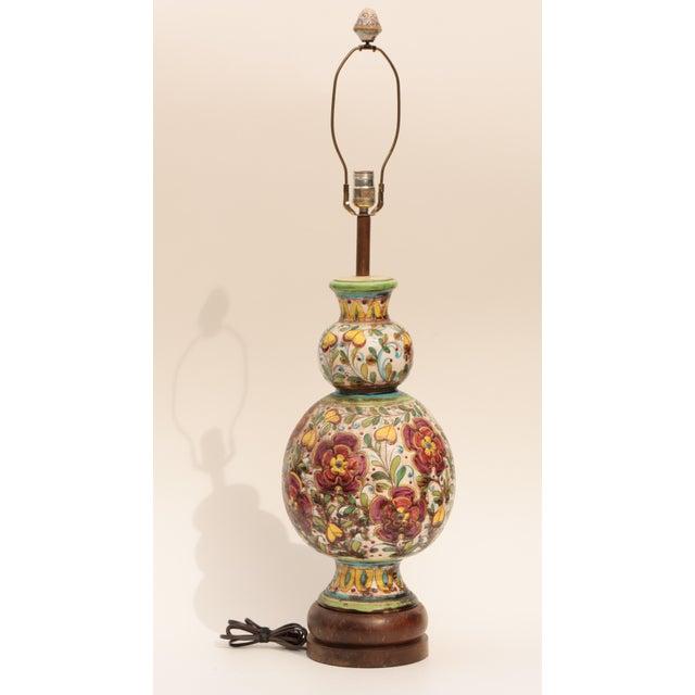 Monumental Italian Sgraffito Table Lamp - Image 5 of 7
