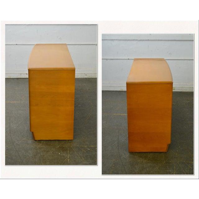 *STORE ITEM #: 18215-fwmr Heywood Wakefield Sculptura Mid Century Modern Maple 6 Drawer Dresser AGE / ORIGIN: Approx. 70...