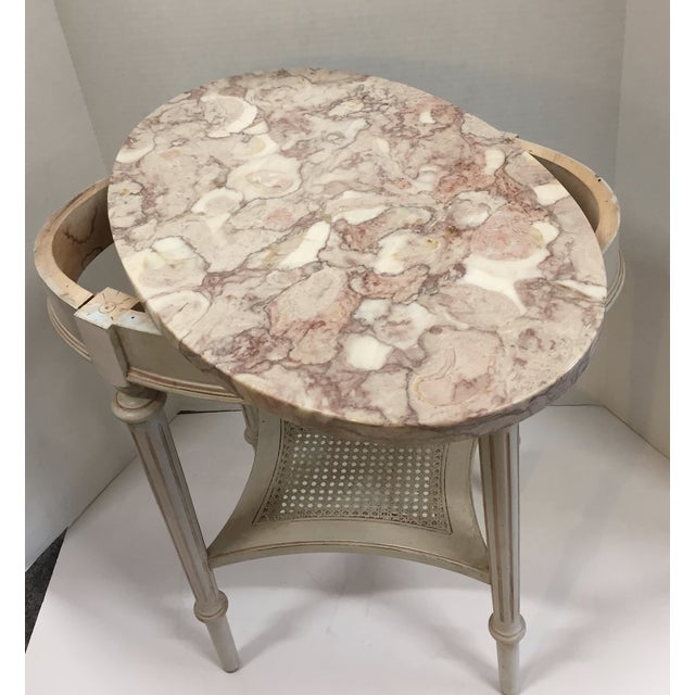 French Marble Top Side Table - Image 7 of 10