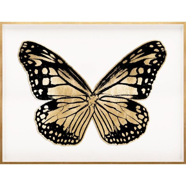Contemporary Butterfly Royale, Black 3 Framed Artwork For Sale - Image 3 of 3