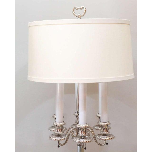 Georgian Georgian Style Candelabra Floor Lamp For Sale - Image 3 of 11