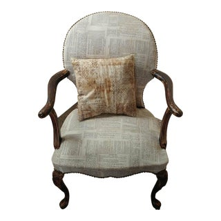 Book Pages Upholstered Accent Chair