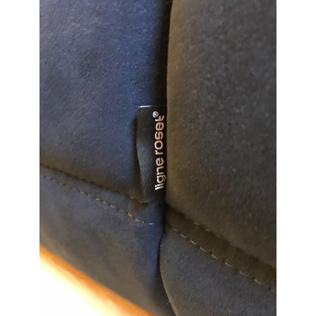 Textile Ligne Roset Navy Alcantara Togo Sofa For Sale - Image 7 of 12