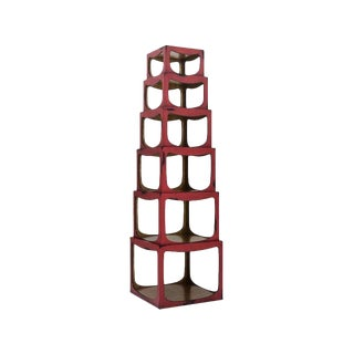Asian Style Cedar Row Etagere For Sale