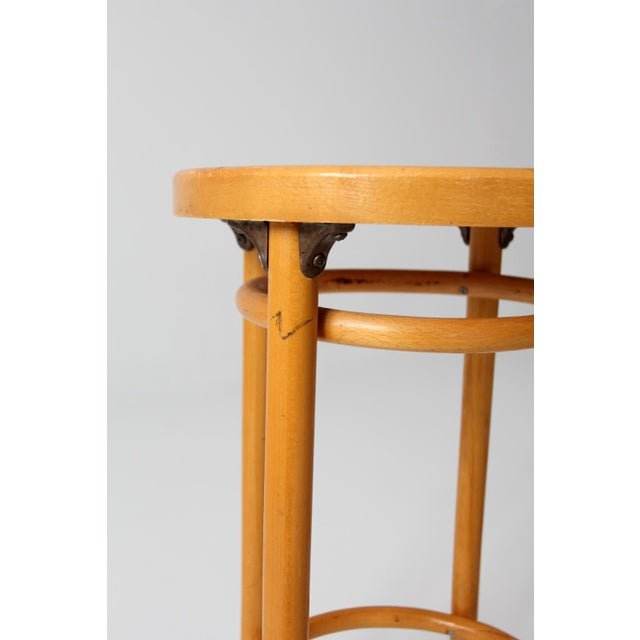 Mid-Century Bentwood Stools - A Pair For Sale - Image 5 of 8