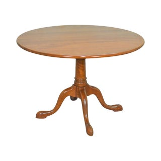 "Stickley 44"" Round Solid Cherry Queen Anne Pedestal Dining Table"