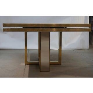 Sinopoli 1970s Italian Brass Satin & Chrome Geometric Large Dining / Hall Table Preview