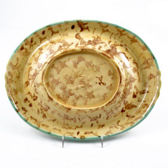 Majolica Vintage Hand Painted Majolica Oval Platter, Marked Jd For Sale - Image 4 of 12
