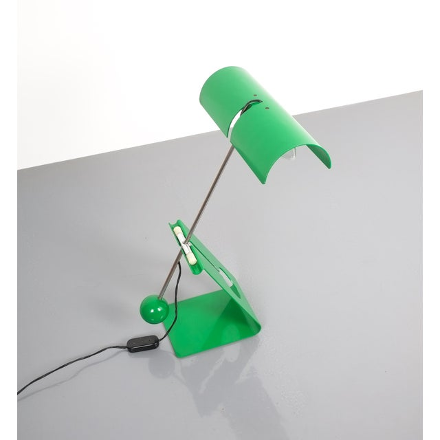 Green Mauro Martini Adjustable Counterweight Table Lamp Picchio, Italy, Circa 1965 For Sale - Image 8 of 13