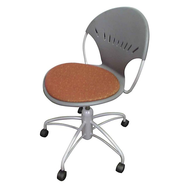 Modern Rolling Office Chair For Sale - Image 9 of 9