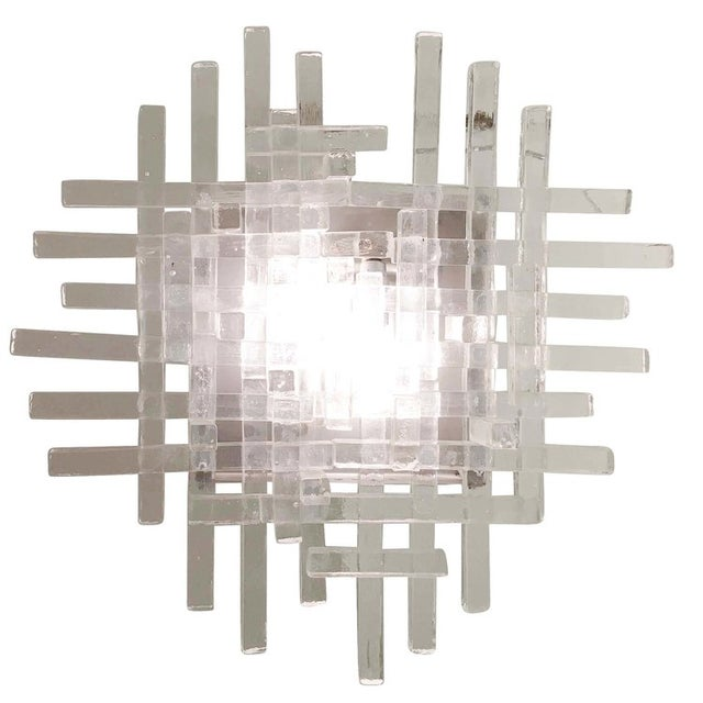 Brutalist Murano Glass Sconces by Poliarte For Sale - Image 3 of 5