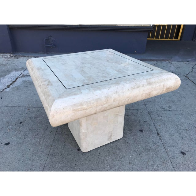 1980s Art Deco Maitland-Smith Tessellated Stone Side Table For Sale In Los Angeles - Image 6 of 6