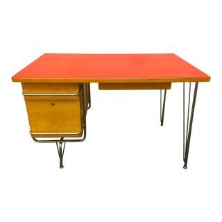 1950s Mid-Century Modern Kem Weber for Heywood Wakefield Trimline Desk For Sale