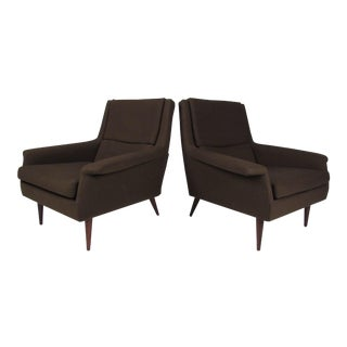 Pair Milo Baughman Lounge Chairs for Thayer Coggin For Sale