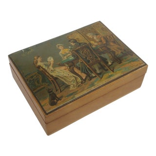 Decoupage Playing Cards or Trinket Box For Sale