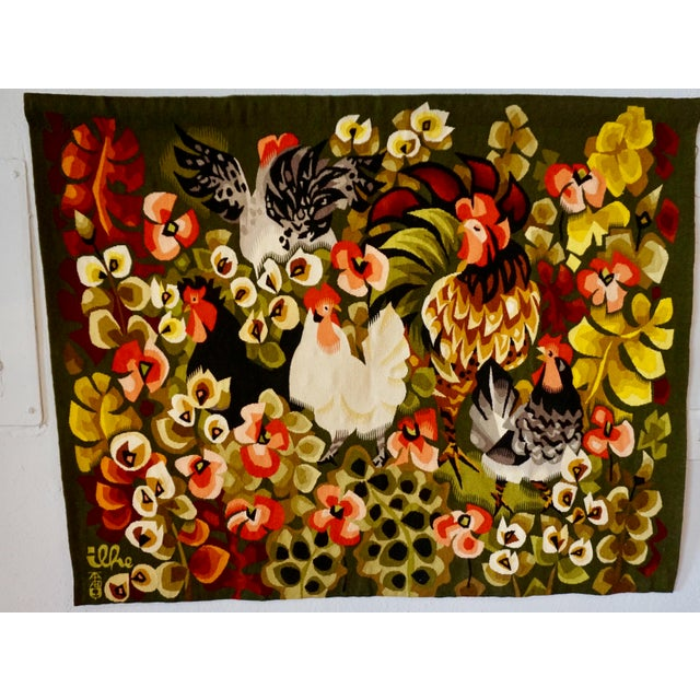 Black Handwoven French Tapestry by Henri Ilhe For Sale - Image 8 of 9