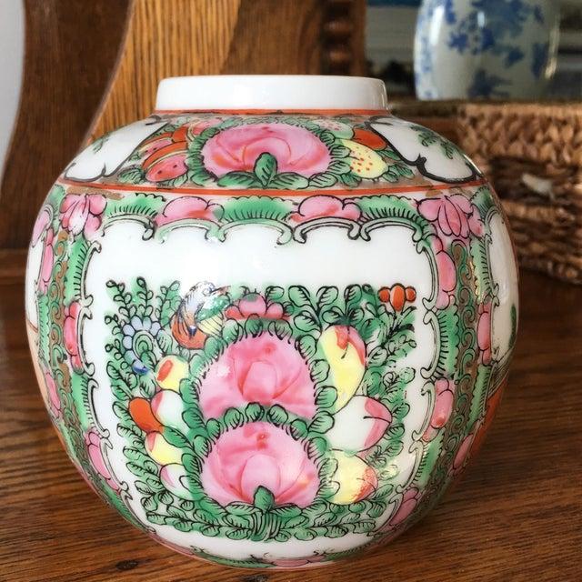 Petite Rose Medallion Ginger Jar For Sale - Image 13 of 13