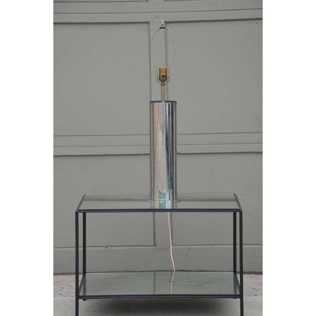 George Kovacs 1970s George Kovacs Minimalistic Chrome Cylinder Table Lamp For Sale - Image 4 of 7