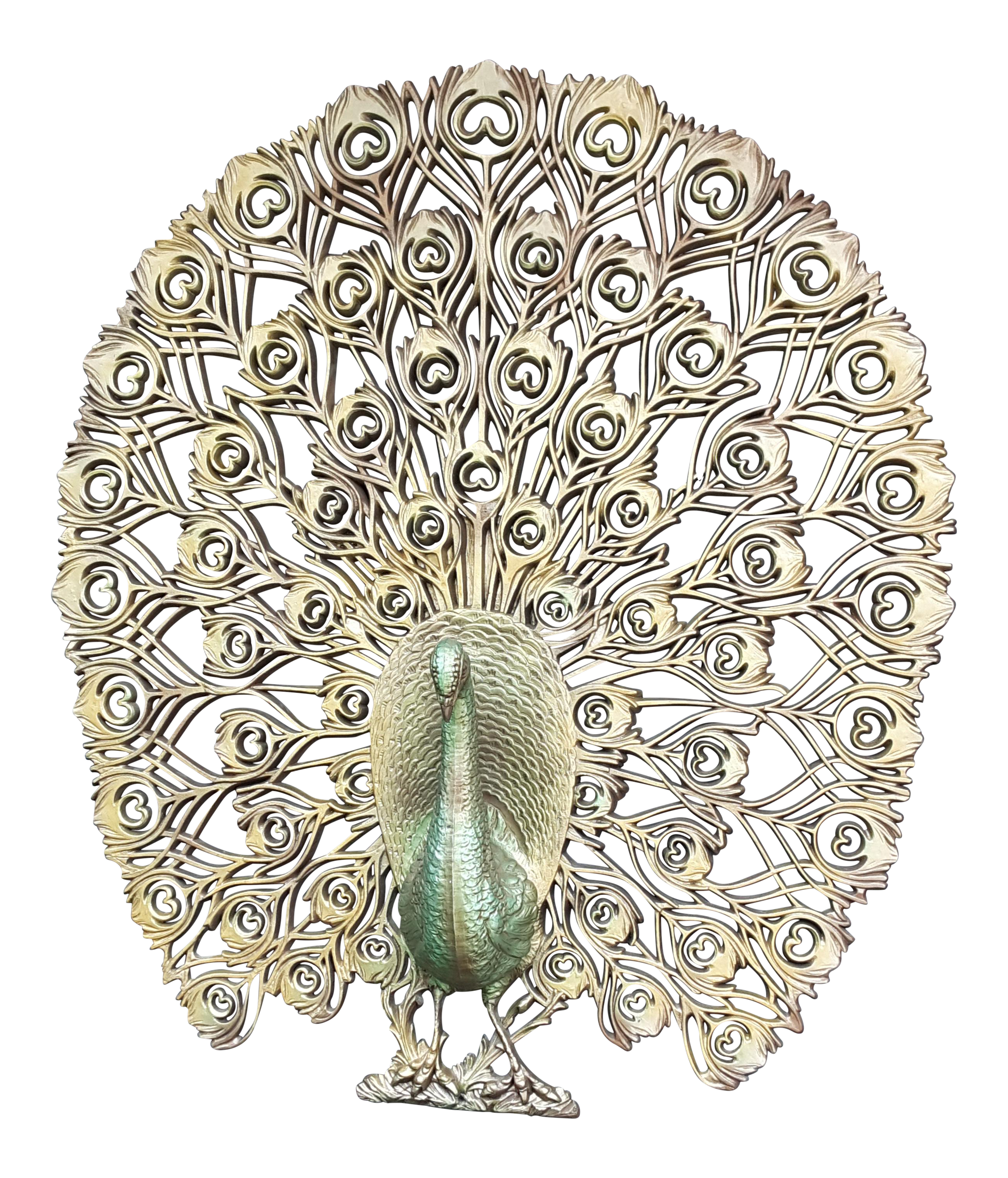 Retro Peacock Wall Decor