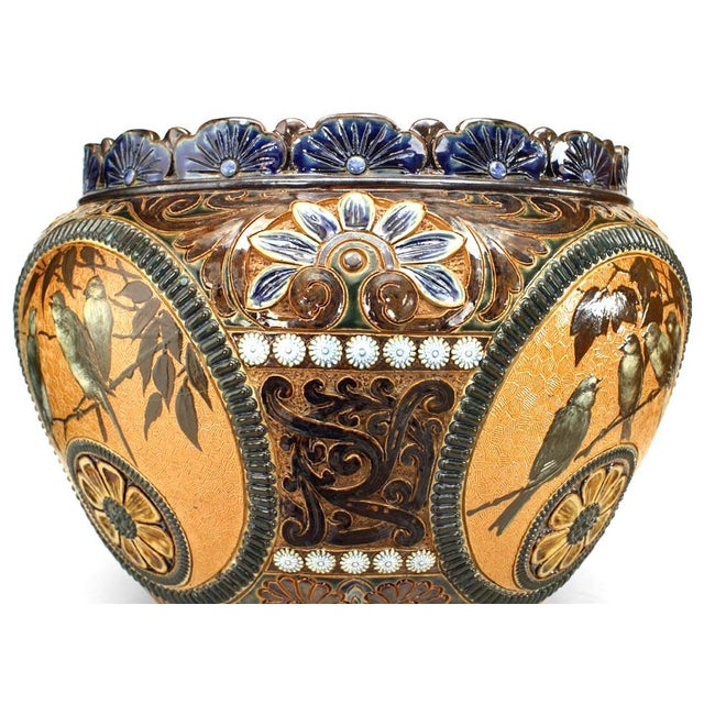 Ceramic Arts and Crafts Royal Doulton Lambeth Pot For Sale - Image 7 of 8