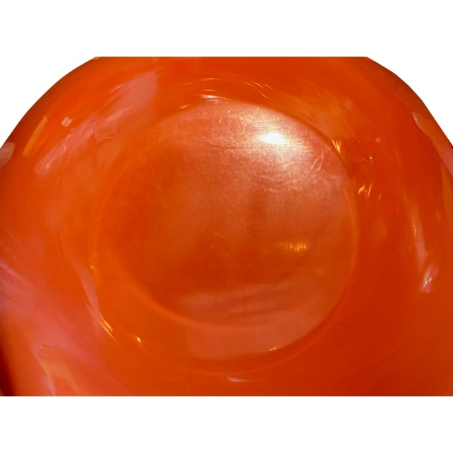 Salmon Mid Century Alfredo Barbini Bowl For Sale - Image 8 of 9