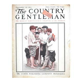 """September 1913 """"The Country Gentleman"""" Magazine With a Boys Playing Baseball For Sale"""