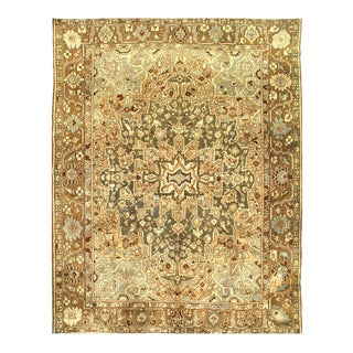 1920s Vintage Persian Bakhtiari Hand-Knotted Rug - 10′ × 12′ For Sale