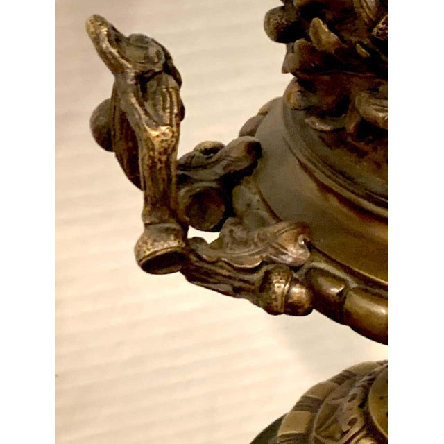 Grand Tour Bronze and Marble Acorn Motif Urn For Sale In Atlanta - Image 6 of 13