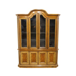 Heritage Sketchbook Collection Lighted Display China Cabinet For Sale