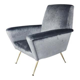 Restored Italian Mid-Century Modern Armchair For Sale