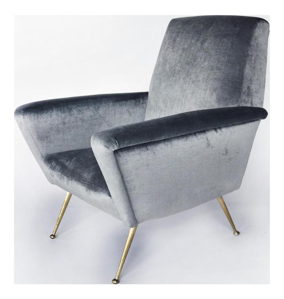 Restored Italian Mid Century Modern Armchair   Image 1 Of 6