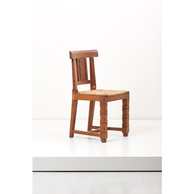 Wood Set of Six Wooden Chairs by Jacques Mottheau, France, 1930s For Sale - Image 7 of 13