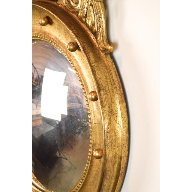 Federal-Style Gilt Convex Mirror - Image 8 of 8