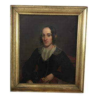 Late 19th Century Antique Female Portrait Painting For Sale