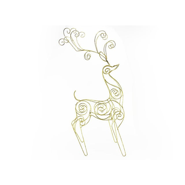 Vintage Tall Wire Christmas Reindeer - Image 2 of 5
