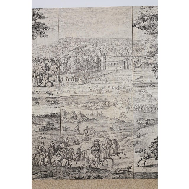 French Provincial Toile De Jouy Textile Panels For Sale In San Francisco - Image 6 of 13