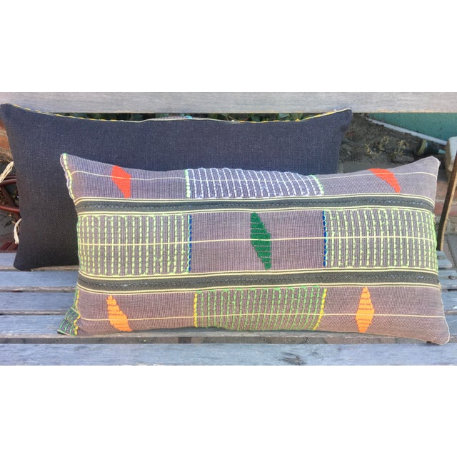 This lumbar is a wonderful comibination of Mali Mudcloth and simple, yet eye-catching, embroidery. Undertones of...