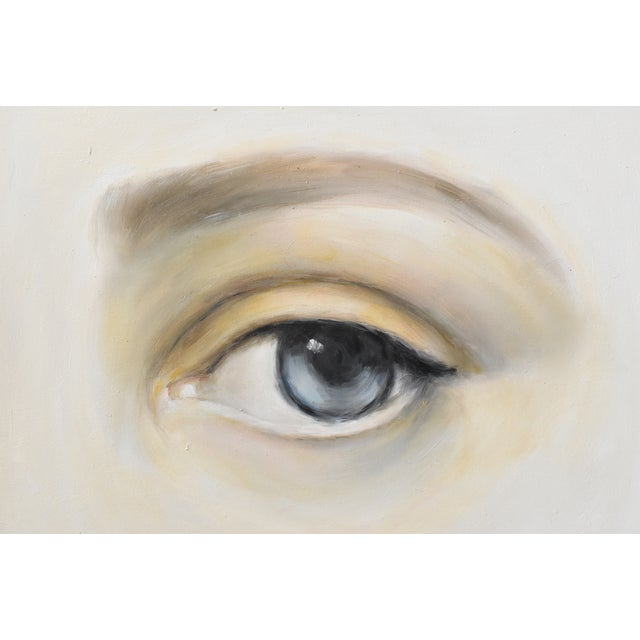 Susannah Carson Contemporary Lover's Eye Oil Painting by Susannah Carson For Sale - Image 4 of 7
